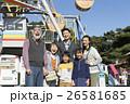 遊園地 3世代 家族の写真 26581685