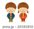 はんてんを着た子ども01(人物のみ) 26585850