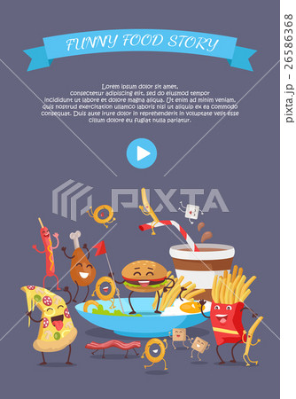 Fast Food Conceptual Flat Style Vector Web Bannerのイラスト素材 [26586368] - PIXTA