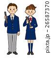 中学生 高校生 男女のイラスト 26587370
