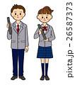 中学生 高校生 男女のイラスト 26587373