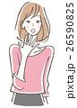 女性 驚く 26590825