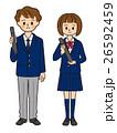 中学生 高校生 男女のイラスト 26592459