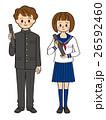 中学生 高校生 男女のイラスト 26592460