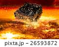 飛行物体 落下 巨大宇宙船の写真 26593872