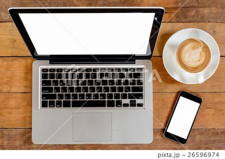 Office wooden tableの写真素材 [26596974] - PIXTA