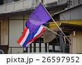 タイ バンコクのメークロン市場 タイの国旗 26597952