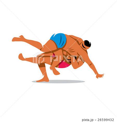 Vector Two Kabaddi players. Cartoon Illustration. 26599432