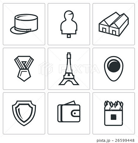 Vector Set of French Legion Icons.  26599448