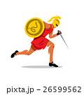 Vector Spartan Warrior Cartoon Illustration. 26599562