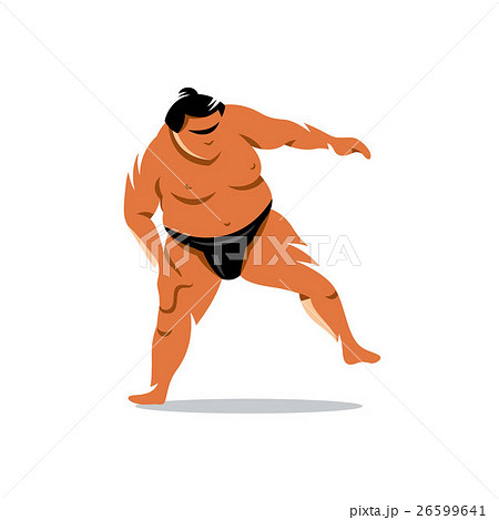 Vector Sumo Cartoon Illustration. 26599641