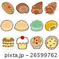 パン 菓子パン ベクターのイラスト 26599762