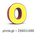 数字 黄色い 黄のイラスト 26601486
