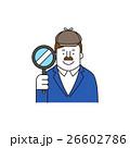 探偵 拡大鏡 虫眼鏡のイラスト 26602786