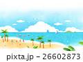 浜辺 景色 風景のイラスト 26602873