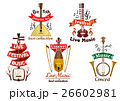 Musical instruments icons for music fest, concert 26602981