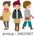 冬物の服を着た女性たち 26623967