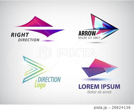 Vector set of abstract arrow icon, logos designのイラスト素材 [26624136] - PIXTA