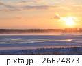 厳冬の野付半島夕景 26624873