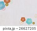 梅 和紙 模様のイラスト 26627205