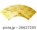 富士山 和風 背景のイラスト 26627293