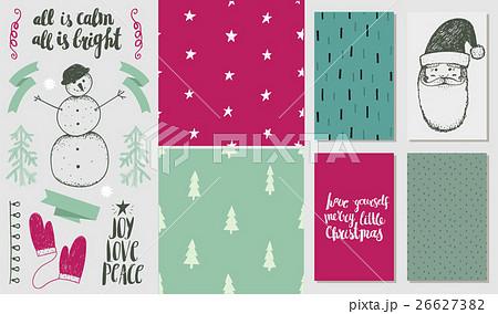 Vector set of hand drawn Christmas design elementsのイラスト素材 [26627382] - PIXTA