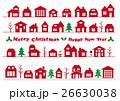 クリスマスの街並み ライン素材セット 26630038