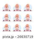 Grey haired old man face expression avatars 26630719