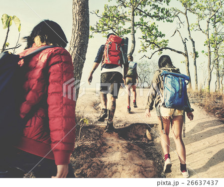 People Friendship Hangout Traveling Destination Camping Concept 26637437
