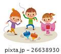コマ回し 正月 子供のイラスト 26638930