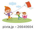 凧揚げ 正月 子供のイラスト 26640604