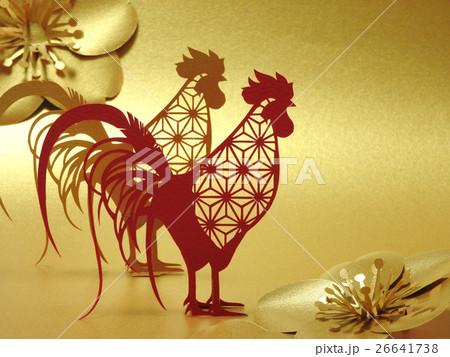 鶏(金背景) 26641738