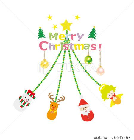 クリスマス素材 オーナメントツリー 26645563