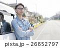 男性 若い 車の写真 26652797