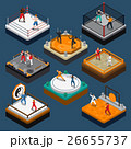Martial Arts Isometric People Composition 26655737