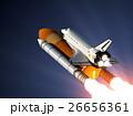 宇宙 打上げ シャトルのイラスト 26656361