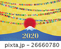 富士山と日の丸とガーランド 26660780