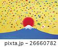 富士山と日の丸と紙吹雪 26660782