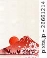 酉 鶏 年賀状 背景  26661214