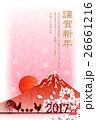 酉 鶏 年賀状のイラスト 26661216