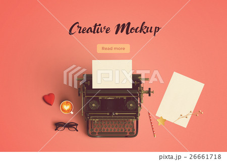 creative mock up vintage color tone paperの写真素材 [26661718] - PIXTA