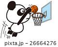 バスケットボールのパンダ 26664276