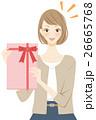 サプライズ プレゼントを持つ女性 26665768