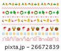 クリスマス ライン ベクターのイラスト 26672839
