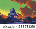 油彩 油絵 住宅のイラスト 26673869