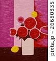 ピンクの背景の花 26680335