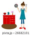 キッチンで料理をする女性 26682101