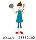 料理をする女性 26682102