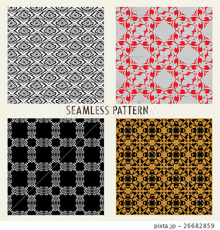 set of four vector patterns のイラスト素材 [26682859] - PIXTA