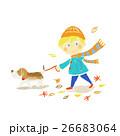 犬 散歩 ペットのイラスト 26683064
